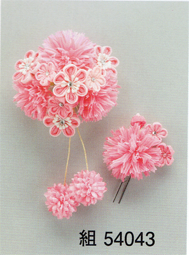 Kanzashi Hair Ornament for Maiko (Set) - Click Image to Close