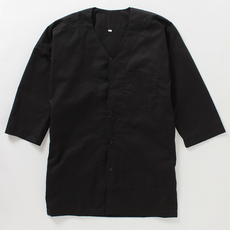 Koiguchi Shirts, Black Koiguchi with black buttons - Click Image to Close