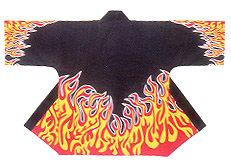 Reasonable Hanten Tenjiku Cotton Fabric Fires (plain)