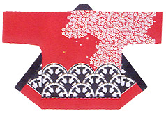 Reasonable Hanten Tenjiku Cotton Fabric Sakura and wheel