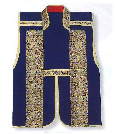 Jinbaori, Surcoat, Samurai Vest Royal Blue (85cm long)