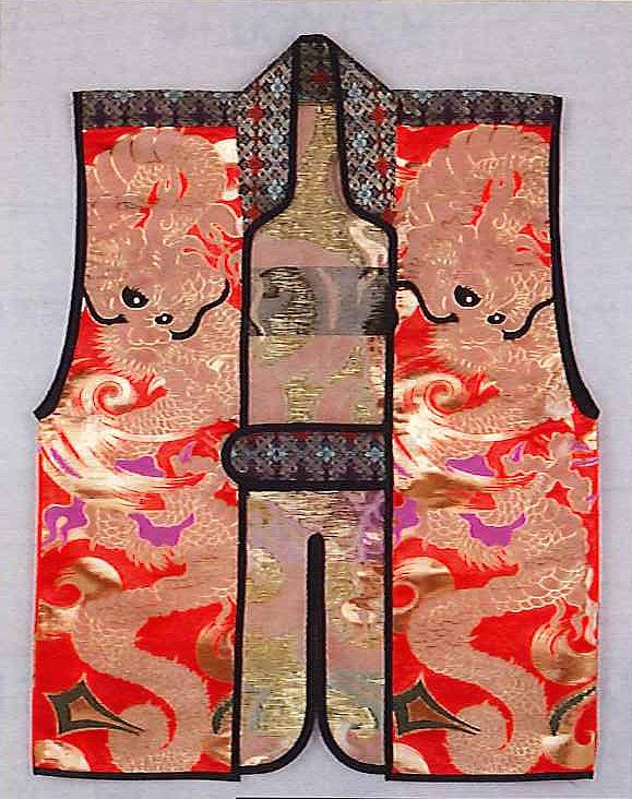 Jinbaori (without liner) Dragons RED (80cm long)