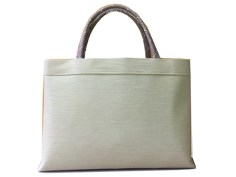 Kimono Bag, Silk 100% , MADE IN KYOTO, Japan , Ivory