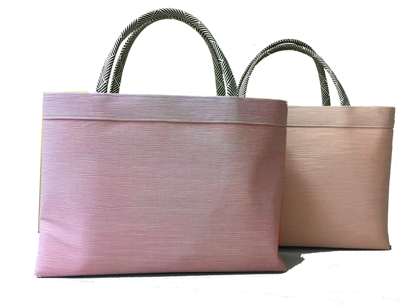 Kimono Bag, Silk 100% , MADE IN KYOTO, Japan , Smoky Pink