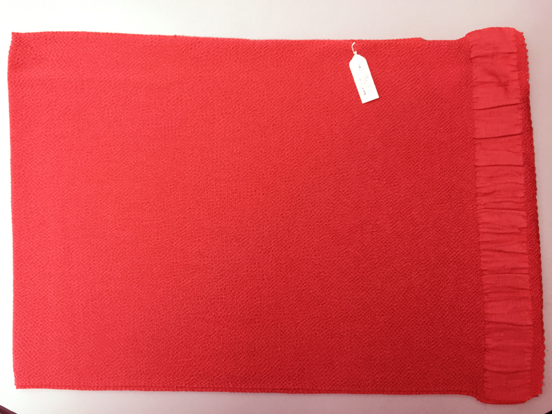 Obiage Sash RED Made in Kyoto Japan Silk 100