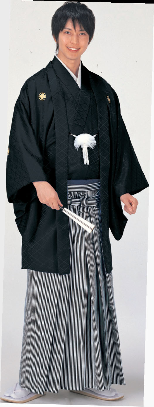 Suit /set of Haori and Short Kimono (for Hakama), emsenble