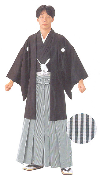 Striped Hakama (Thinner or narrower stripe) ready made long size