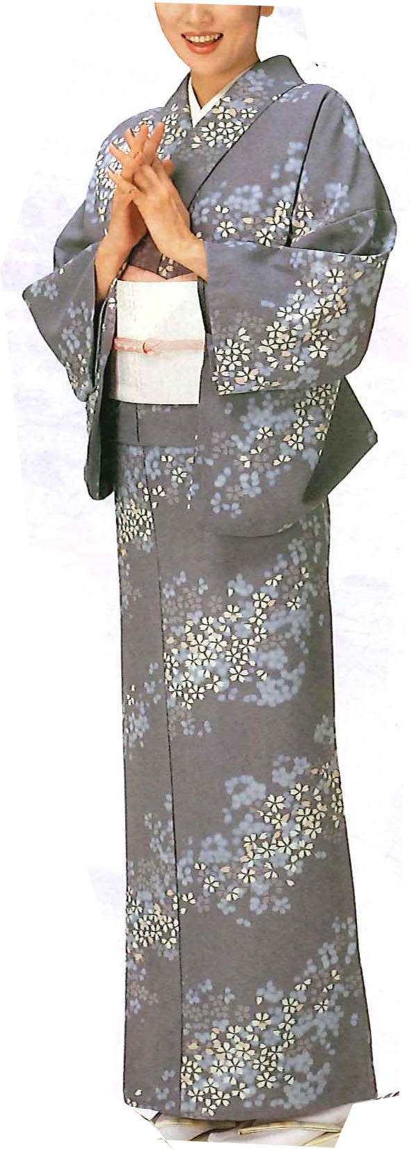 Custom Made Kimono | Komon Cherry blossom |FOR LADY