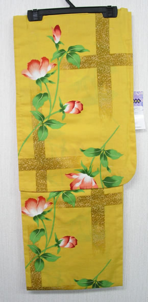 Less Expensive Yukata Robe Cotton Yellow, Poppy or single‐pet