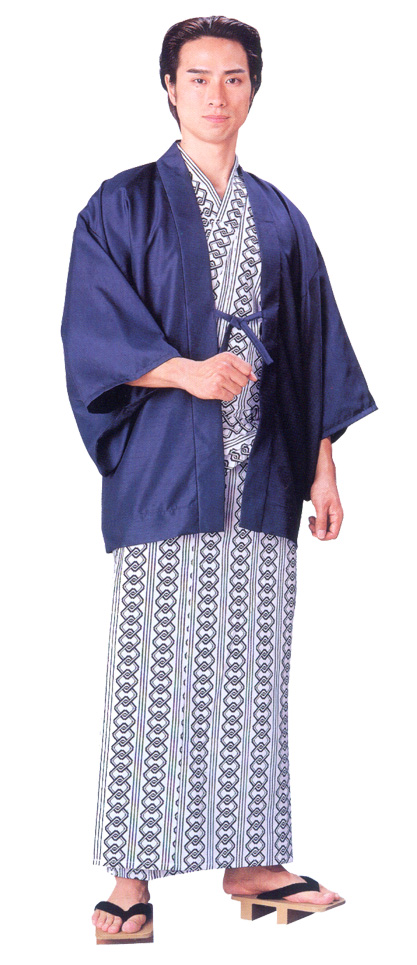 "Bathrobe Yukata , Yukata Robe ""Yoshiwara Tsunagi Chains Pattern"