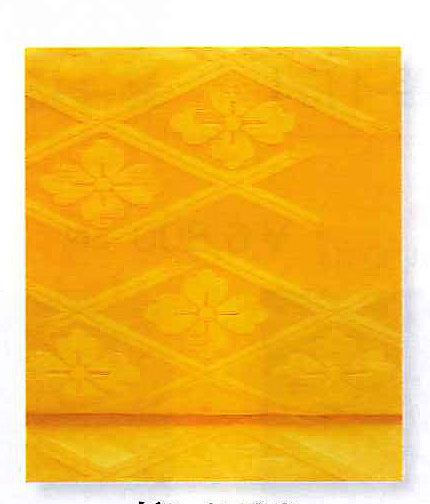 Nagoya Obi for Otaiko box tyeing, Marigold yellow