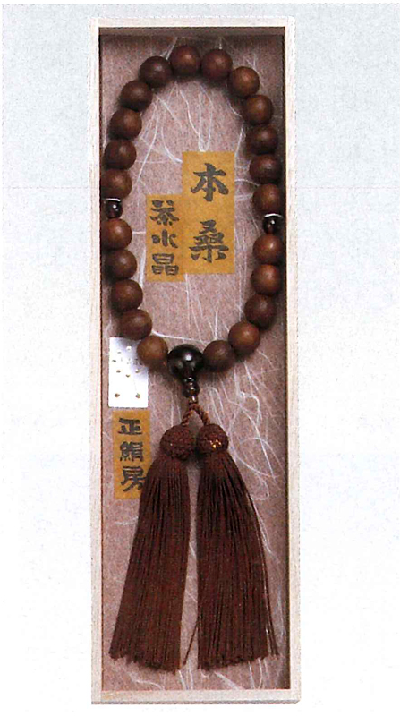 Juzu, Nenju, Buddhist rosary, Natural Wood Beads used