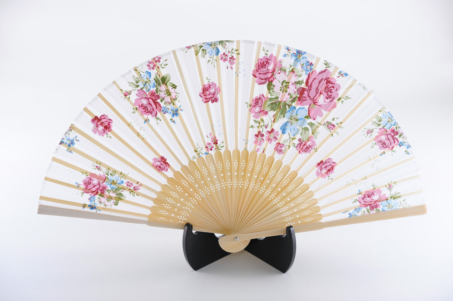 silk fan |Floral pattern, Rose