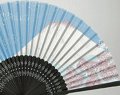 silk fan | Fujisan, Fujiyama and Sakura cherry blossoms