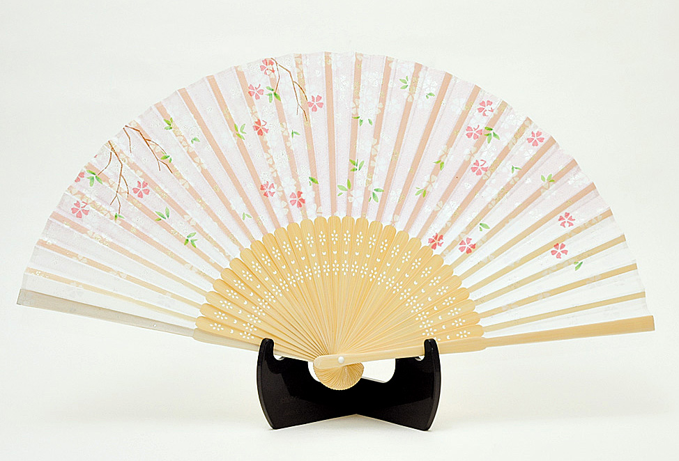 silk fan |Floral pattern, Sakura, Cherry blossom