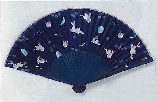 Rabbits silk fan