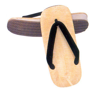 Zouri or Setta with sponge sole, black Hano straps
