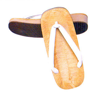 Zouri or Setta with sponge sole, White Hanao straps